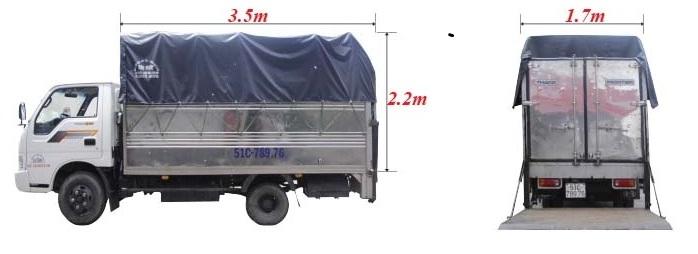 thuê xe tải 2 tấn mui bạc