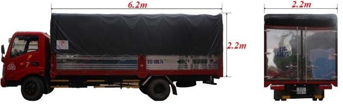 giá thuê xe tải dài 6 mét
