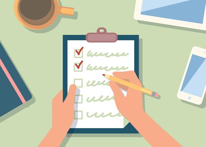 checklist công việc cần làm