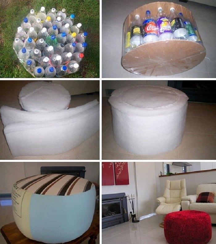 tái chế chai nhựa thành đồ đùng ghế ngồi