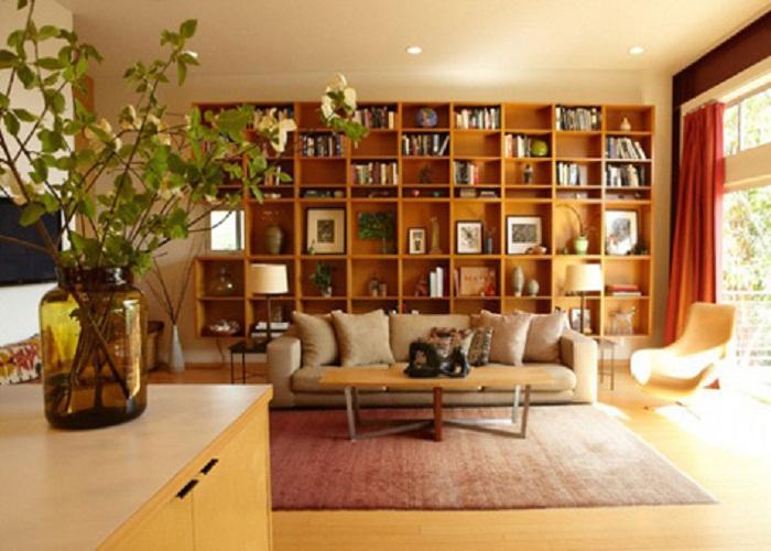 Kệ sách tạo nên không gian trí thức cho phòng khách của bạn