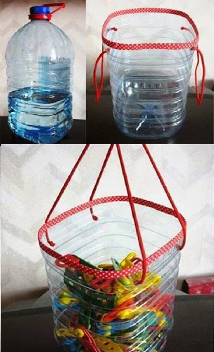tái chế chai nhựa thành túi đựng đồ