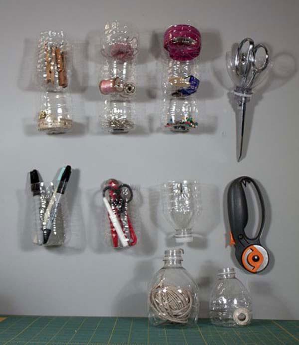 cách tái chế chai nhựa thành đồ dùng trong nhà