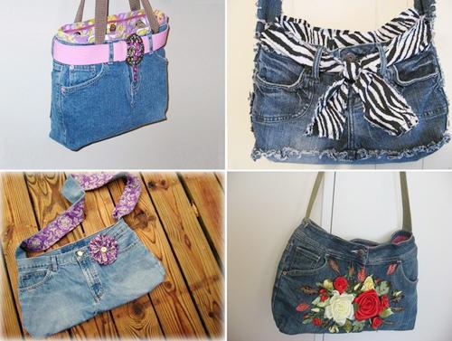 Tái chế quần jean thành túi xách