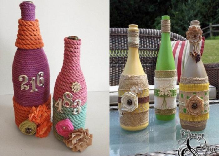 tái chế chai nhựa làm lọ hoa