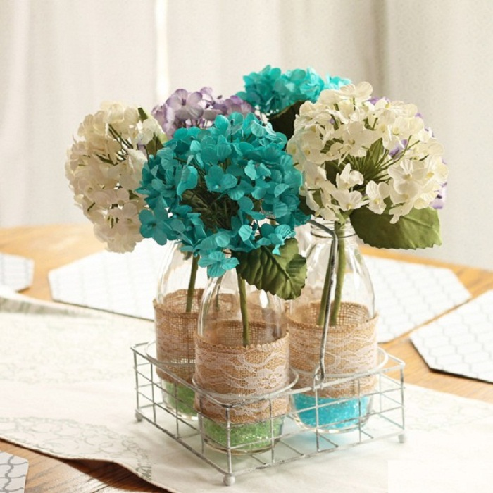 làm lọ hoa từ chai nhựa