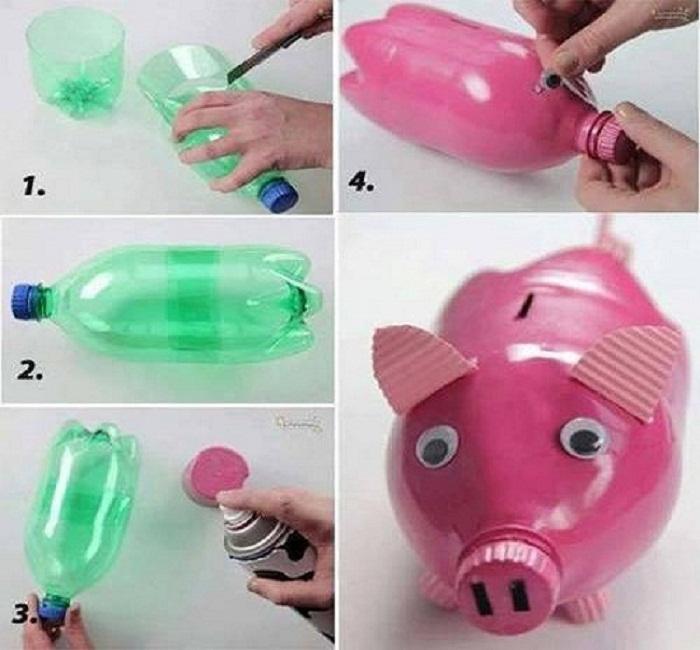 tái chế chai nhựa cũ thành đồ chơi