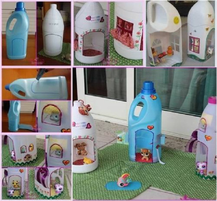 tái chế chai nhựa làm đồ chơi