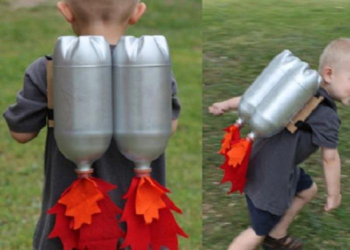 tái chế chai nhựa thành tên lửa