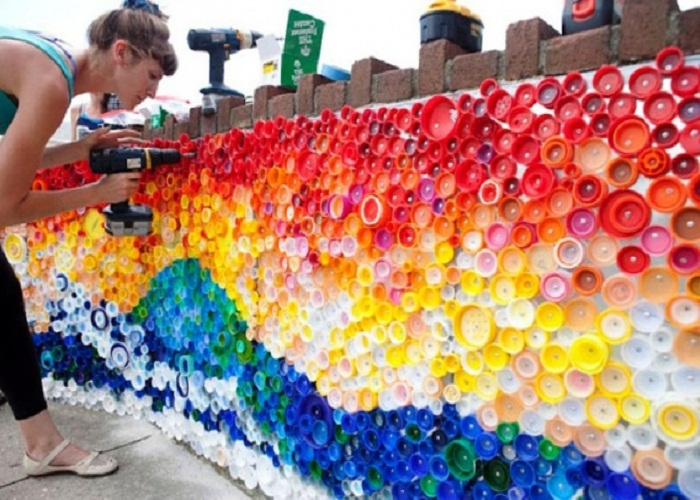tái chế chai nhựa trang trí