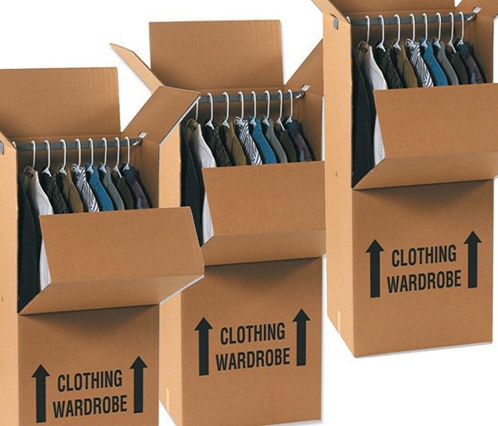 Thùng đóng gói quần áo có móc treo