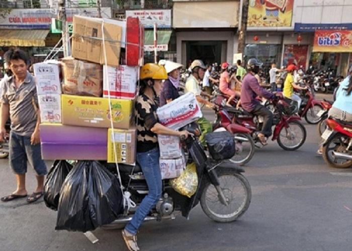 chuyển nhà bằng xe máy
