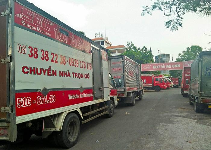 Chuyển văn phòng saigon express taxi tải Sài Gòn