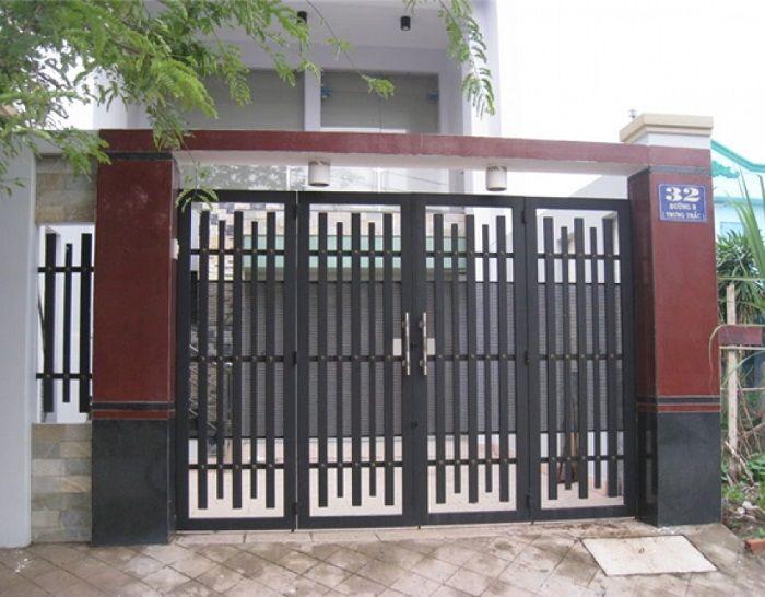 cổng nhà 4 cánh